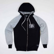 NRLND Zip-Hood | Black / Grey